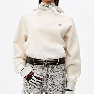 ALEXANDER WANG CREAM Heavy French Terry Hoodie